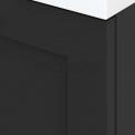 Badkamermeubel 60cm Modulo+ Carbon 2 Lades Kader Wastafel Natuursteen Graniet