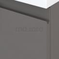 Badkamermeubel 70cm Modulo+ Basalt 2 Lades Greeploos Wastafel Glas