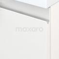 Badkamermeubel voor Waskom 100cm Modulo+ Plato Hoogglans Wit 1 Lade Greeploos