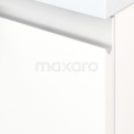 Badkamermeubel voor Waskom 140cm Modulo+ Plato Mat Wit 2 Lades Greeploos