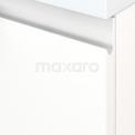 Badkamermeubel voor Waskom 120cm Mat Wit Greeploos Modulo+ Plato Eiken Blad
