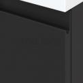 Badkamermeubel voor Waskom 140cm Carbon Greeploos Modulo+ Plato Hoogglans Wit Blad