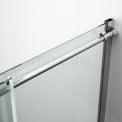 Maxaro Crystal Allure S6120-1200C Douchewand Met Schuifdeur Crystal Allure 120cm Chroom Look