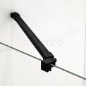 Douchewand Inloopdouche 90cm Matte Stroken Veiligheidsglas 8mm Mat Zwart