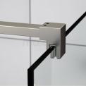 Douchewand Inloopdouche Quartz 90cm Veiligheidsglas 8mm Geborsteld RVS
