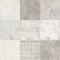 Vloertegel/Wandtegel Viene Saffraan Decor 60x60cm Natuursteenlook Grijs Gerectificeerd Tegel Viene 303-030112