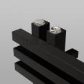 Aluminium Handdoekradiator Kepler Mat Zwart 1242 Watt 55x174cm Verticaal