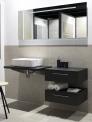 Groot formaat natuursteen badkamer