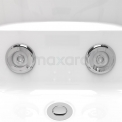 Whirlpool Bad Pacific Silver 1 Persoons Links 170x92cm Watermassage