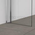Inloopdouche 100x70cm Veiligheidsglas 6 mm Chroom look