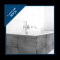 Ligbad Ponza 180x80cm Acryl Mat Wit Slim Edge Design, Extra Diep