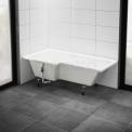 Hoekbad Pianosa 170x85cm Acryl Glans Wit Links Met Panelen