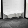 Hoekbad Pianosa 170x85cm Acryl Glans Wit Rechts