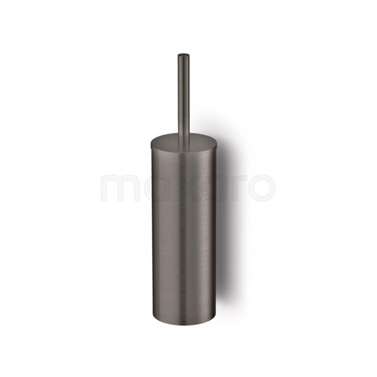 WC Borstel Radius Black Steel, Hangend, Zwart Metaal