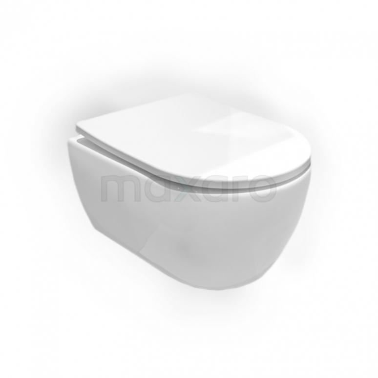 Hangend Toilet Senza Zonder Spoelrand Diepspoel Wit Verkort Toilet