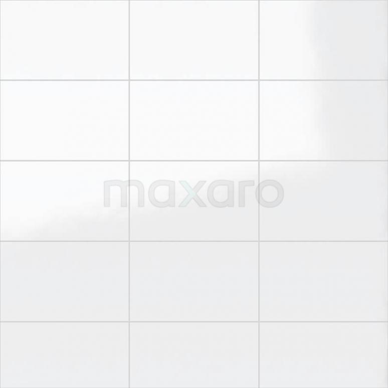 Wandtegel Blanco 25x40cm Uni Wit Glanzend