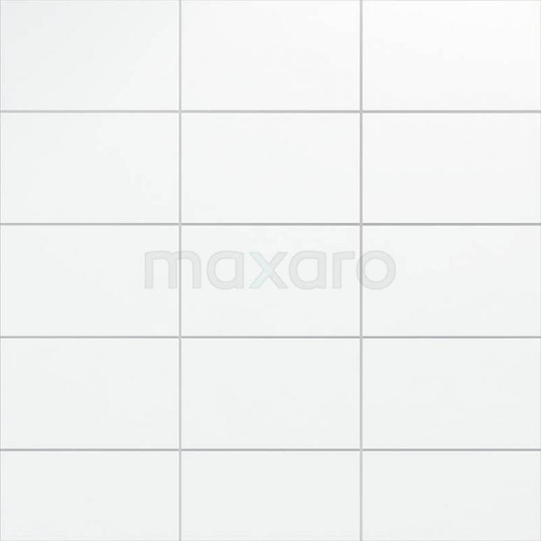 Wandtegel Blanco 25x40cm Uni Wit Mat