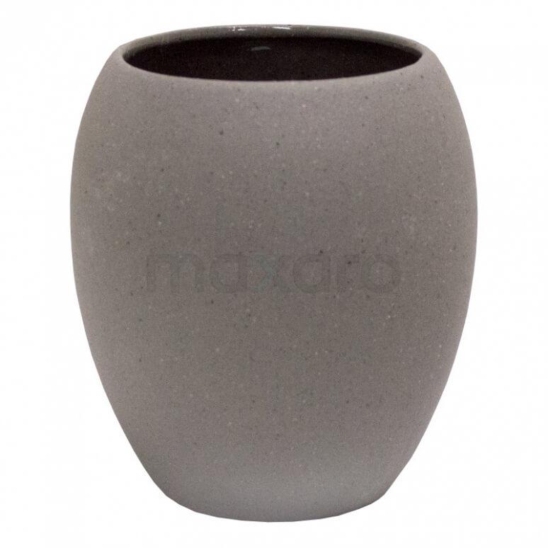 Beker Oval Stone-look Keramiek
