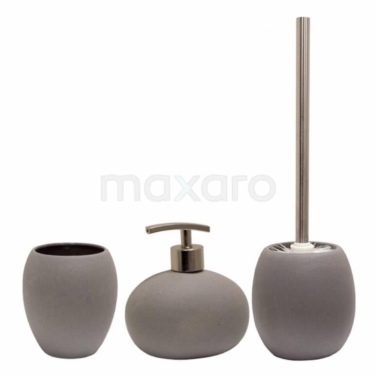 Badkamer Accessoires Set Oval Stone Look 310 9901 Maxaro