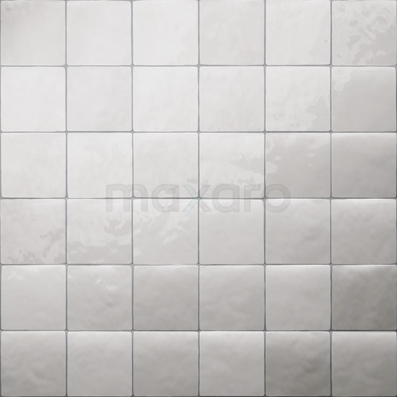Wandtegel Mica White Mix 13x13cm Uni Wit Glanzend Witjes