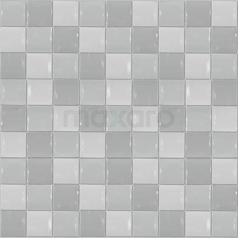 Wandtegel Mica Grey Mix 13x13cm Uni Multicolor Glanzend Witjes