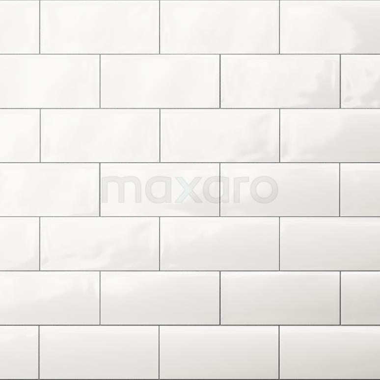 Wandtegel Malta 7,5x15cm Uni Wit Glanzend Handvorm