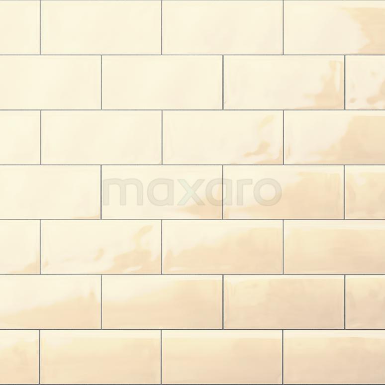 Wandtegel Malta 7,5x15cm Uni Beige Glanzend Handvorm
