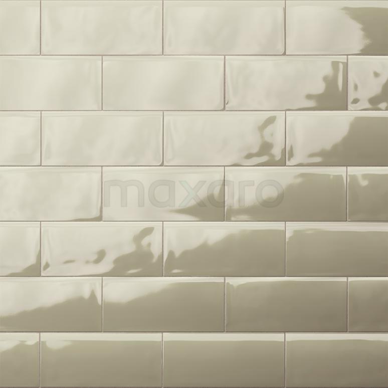 Wandtegel Malta 7,5x15cm Uni Groen Glanzend Handvorm