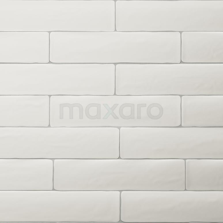 Wandtegel Horizon 7,7x28,5cm Uni Wit Mat Handvorm