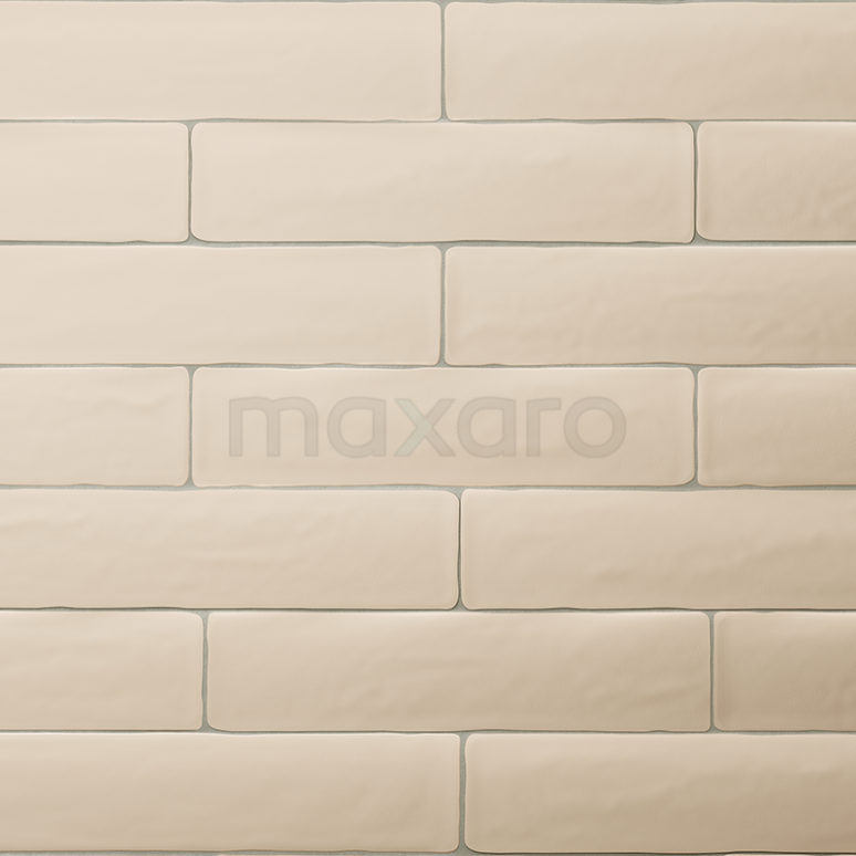 Tegel Horizon 501-030102 Wandtegel Horizon 7,7x28,5cm Uni Beige Mat Handvorm