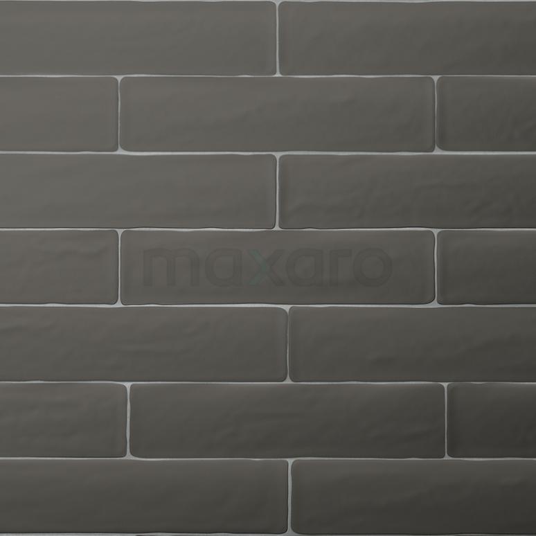 Wandtegel Horizon 7,7x28,5cm Uni Grijs Mat Handvorm