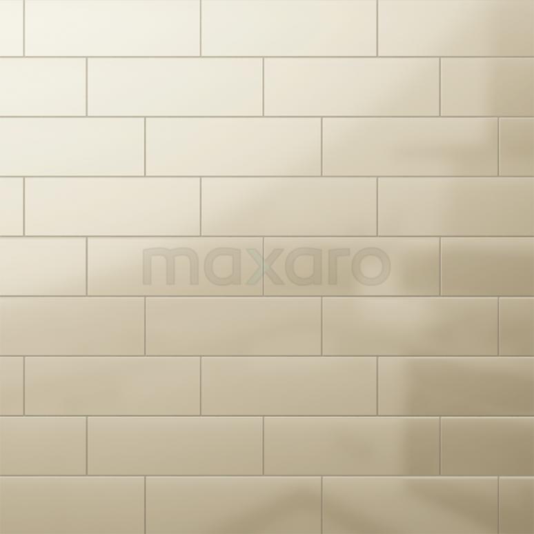 Tegel Mono 501-080101 Wandtegel Mono 10x30cm Uni Beige Glanzend Handvorm