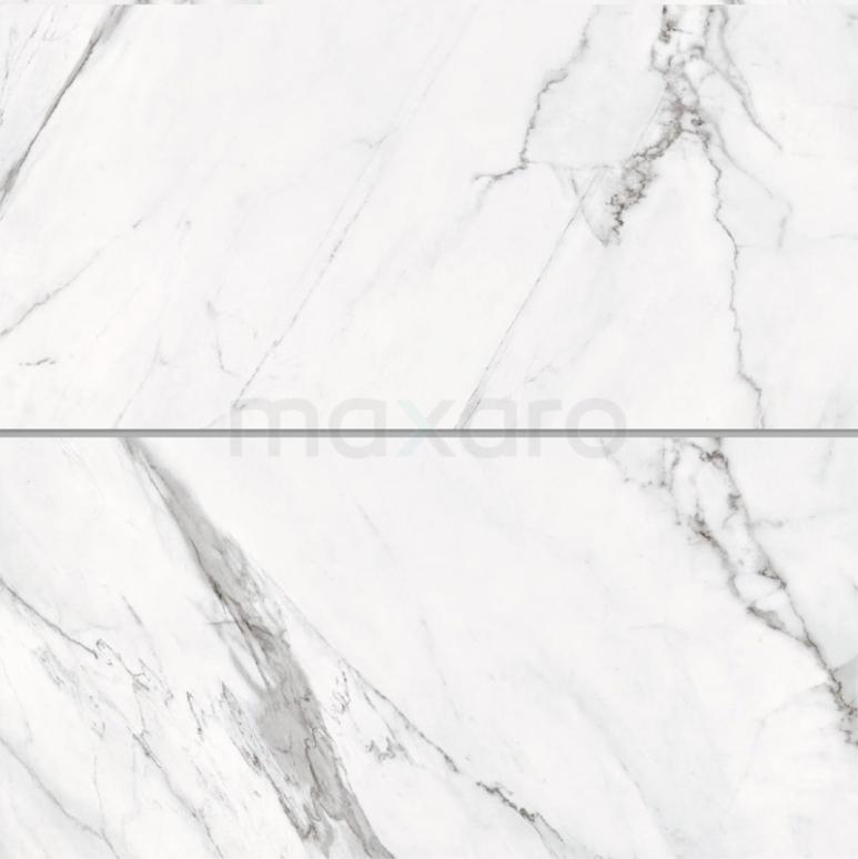 Vloertegel/Wandtegel Lucido Wit Glans 30x60cm Marmerlook Gerectificeerd