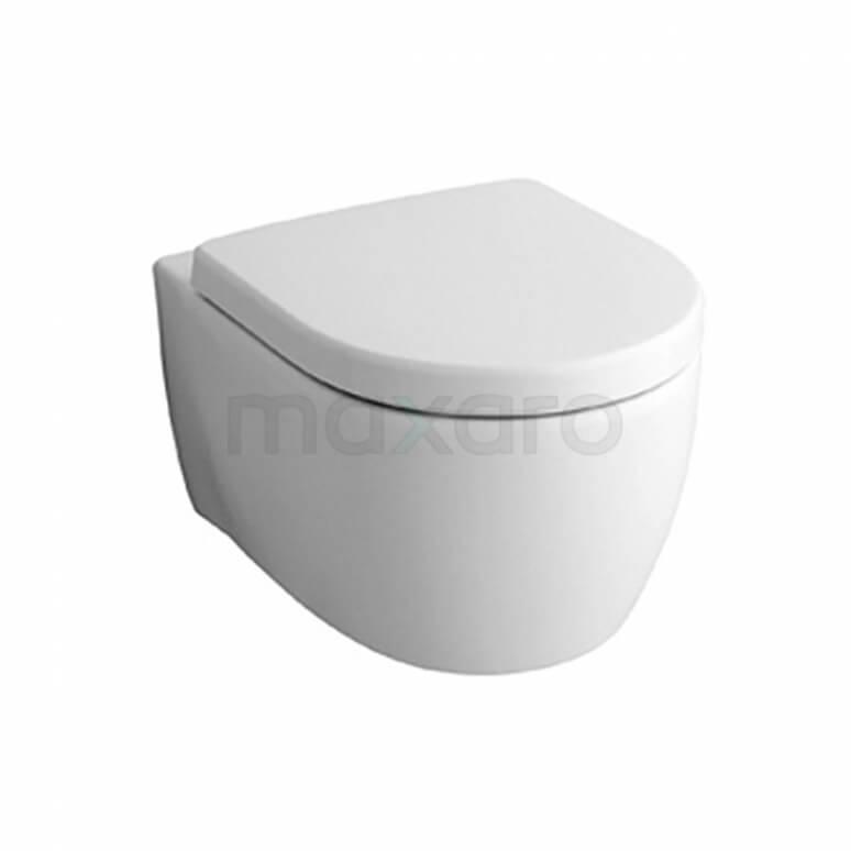 Hangend Toilet Icon Zonder Spoelrand Diepspoel Wit Verkort Toilet