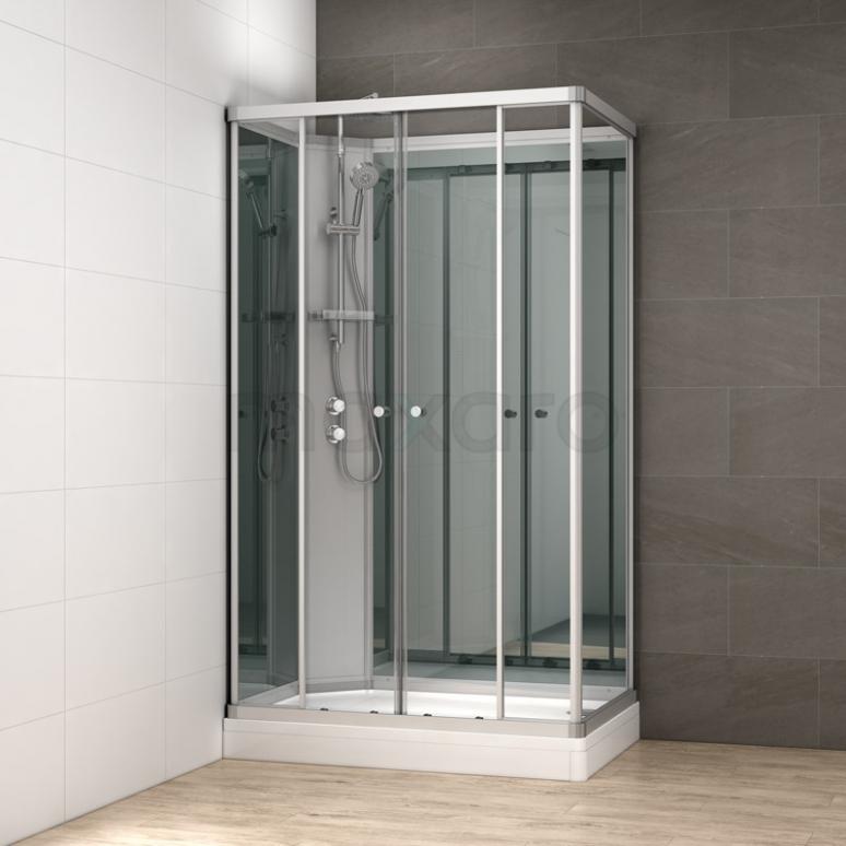 Complete Douchecabine 140x90cm Spiegelglas Modera