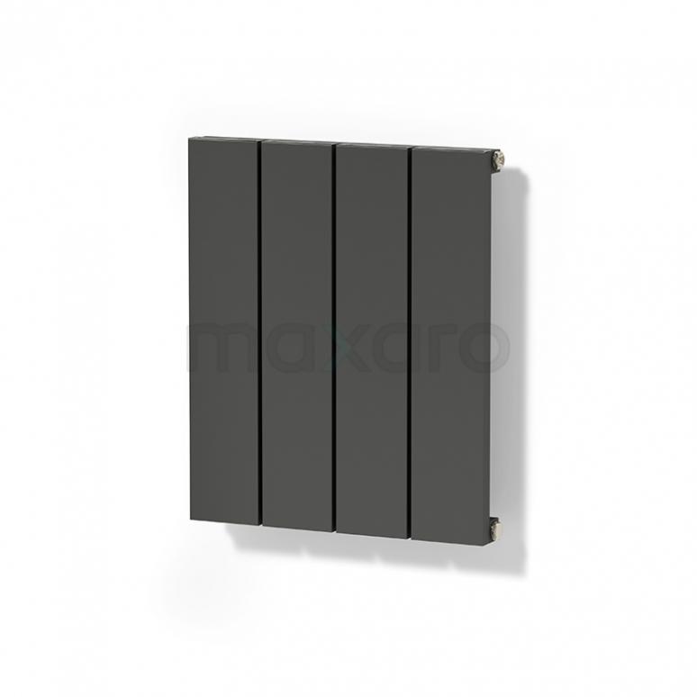 Aluminium Designradiator Jupiter Donkergrijs Metallic 292 Watt 37,5x50cm Verticaal