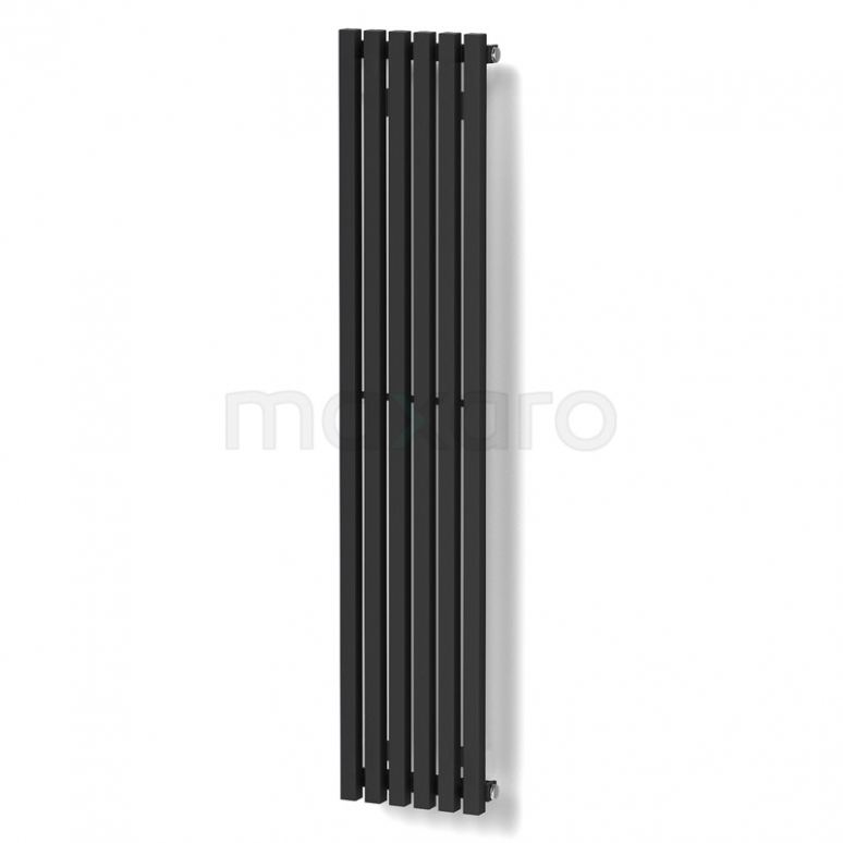 Maxaro Sol DR59_0612SB Aluminium Designradiator Sol Zwart 524 Watt 25x120cm Verticaal