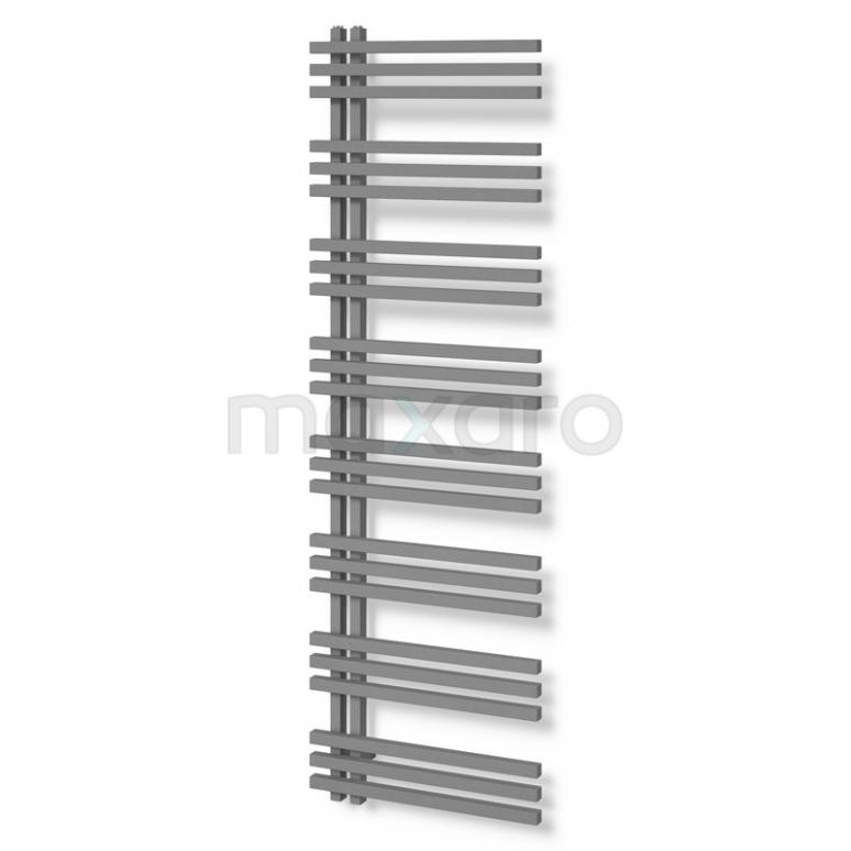Aluminium Handdoekradiator Kepler Lichtgrijs Metallic 1242 Watt 55x174cm Verticaal