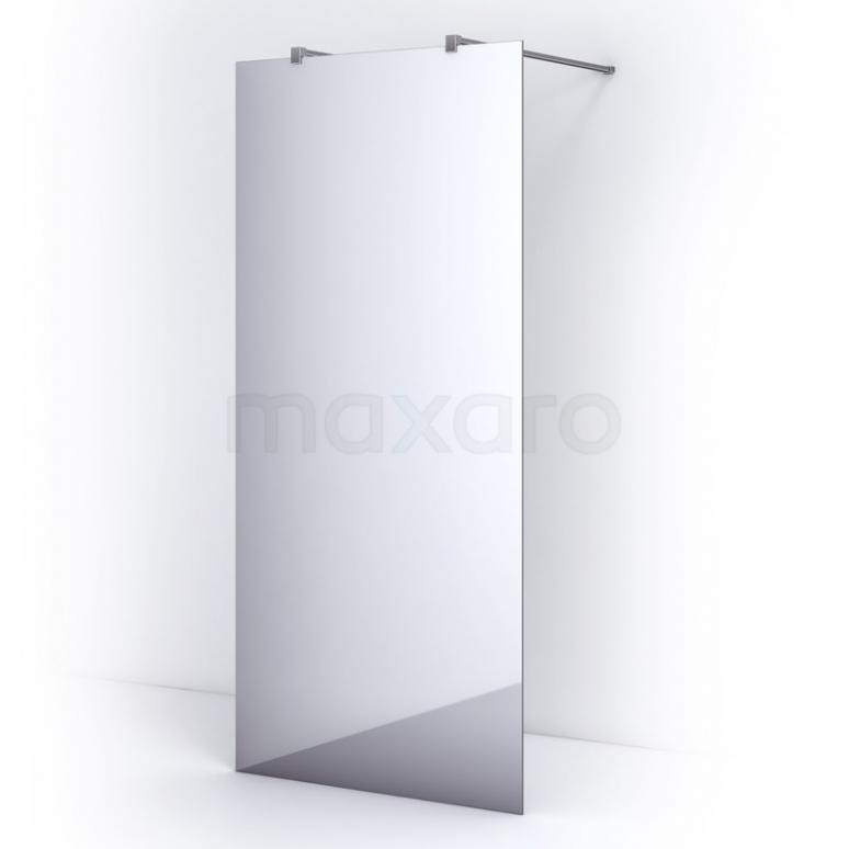 Vrijstaande Inloopdouche 95cm Spiegelglas Veiligheidsglas 8mm Chroom