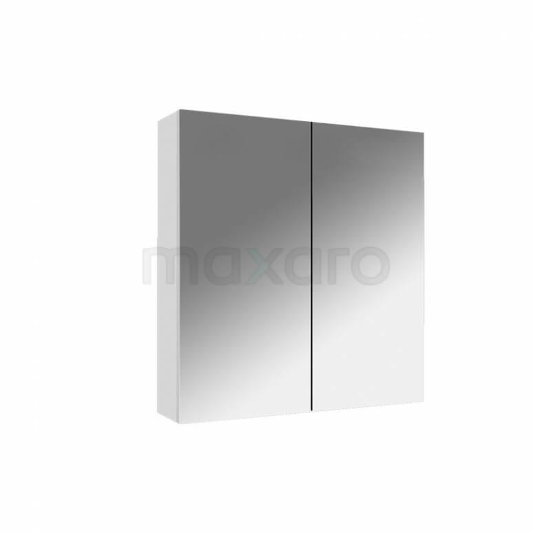 Spiegelkast Lato 60x60cm Hoogglans Wit 2 Deuren