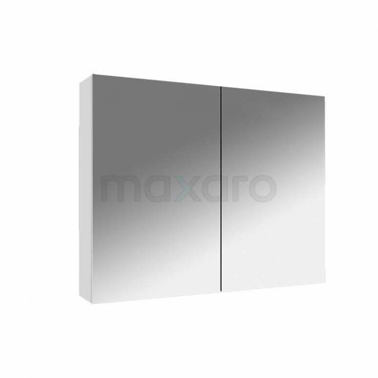 Spiegelkast Lato 80x60cm Hoogglans Wit 2 Deuren