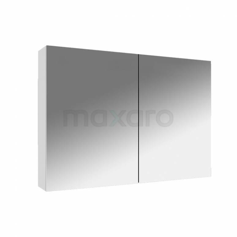Spiegelkast Lato 90x60cm Hoogglans Wit 2 Deuren
