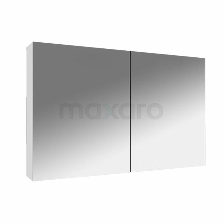 Spiegelkast Lato 100x60cm Hoogglans Wit 2 Deuren