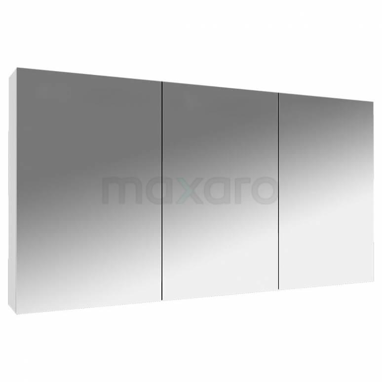 Spiegelkast Lato 120x60cm Hoogglans Wit 3 Deuren