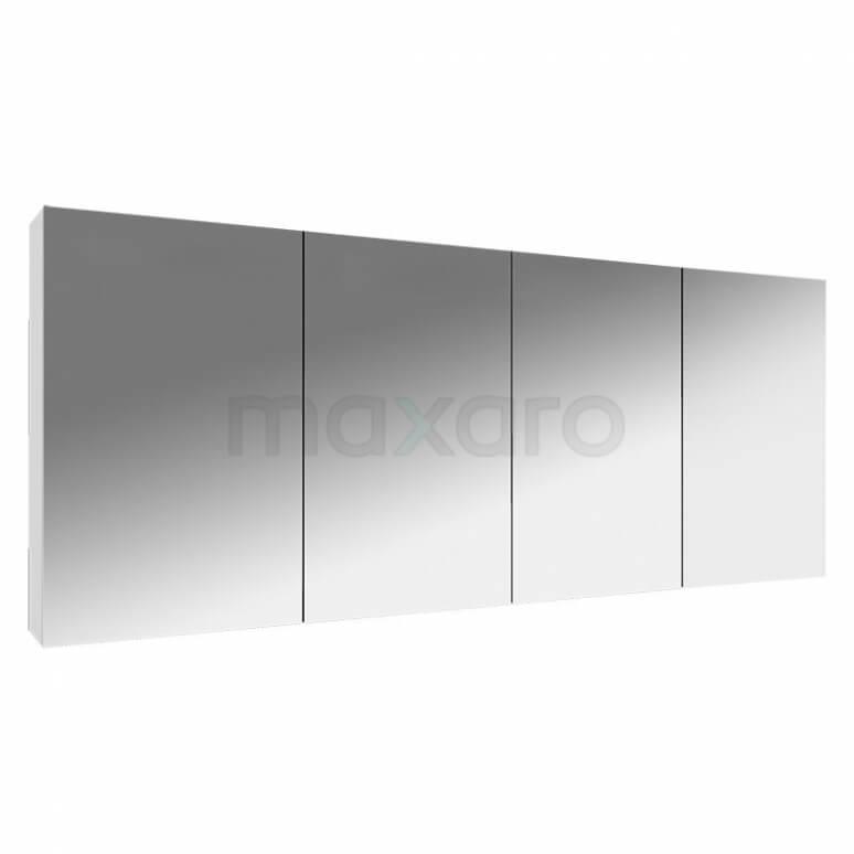 Spiegelkast Lato 160x60cm Hoogglans Wit 4 Deuren