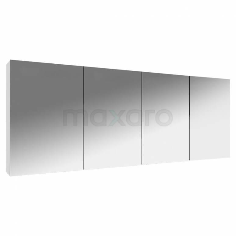 Spiegelkast Lato 180x60cm Hoogglans Wit 4 Deuren