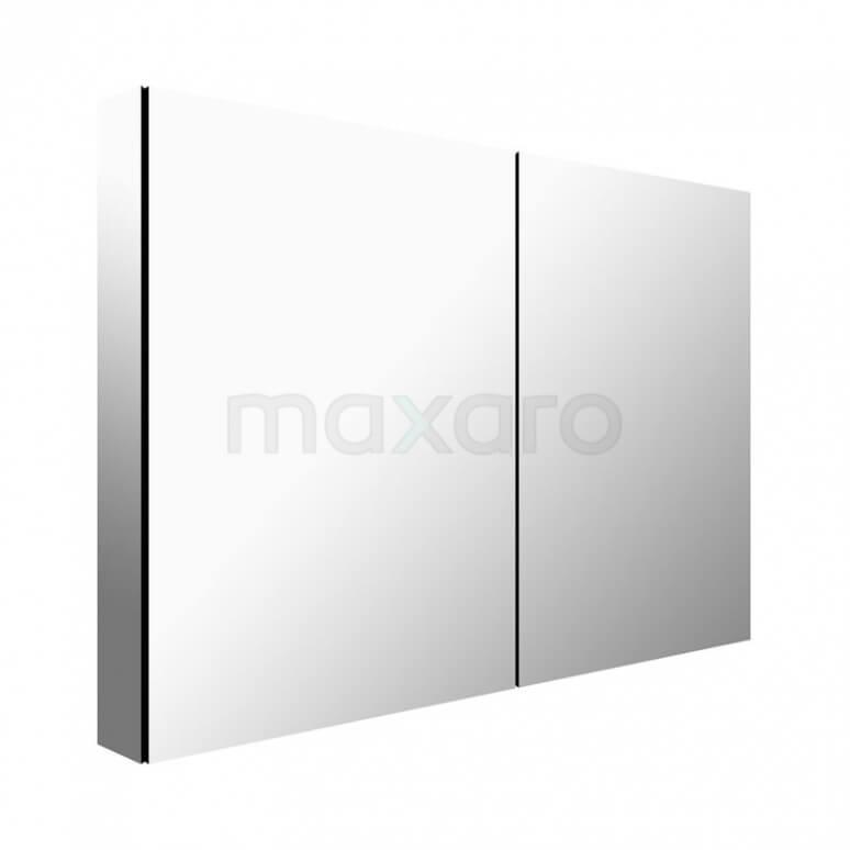 Maxaro K03 K03-1000-45605 Spiegelkast 100x60cm Aluminium 2 Deuren