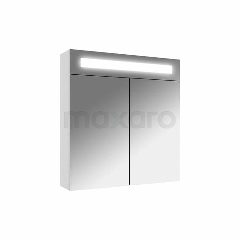 Maxaro K31 K31-0600-40410 Spiegelkast met Verlichting 60x65cm Hoogglans Wit