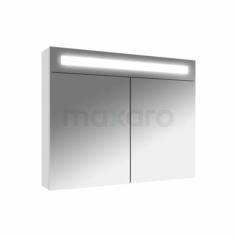 Maxaro K31 K31-0800-40410 Spiegelkast met Verlichting 80x65cm Hoogglans Wit