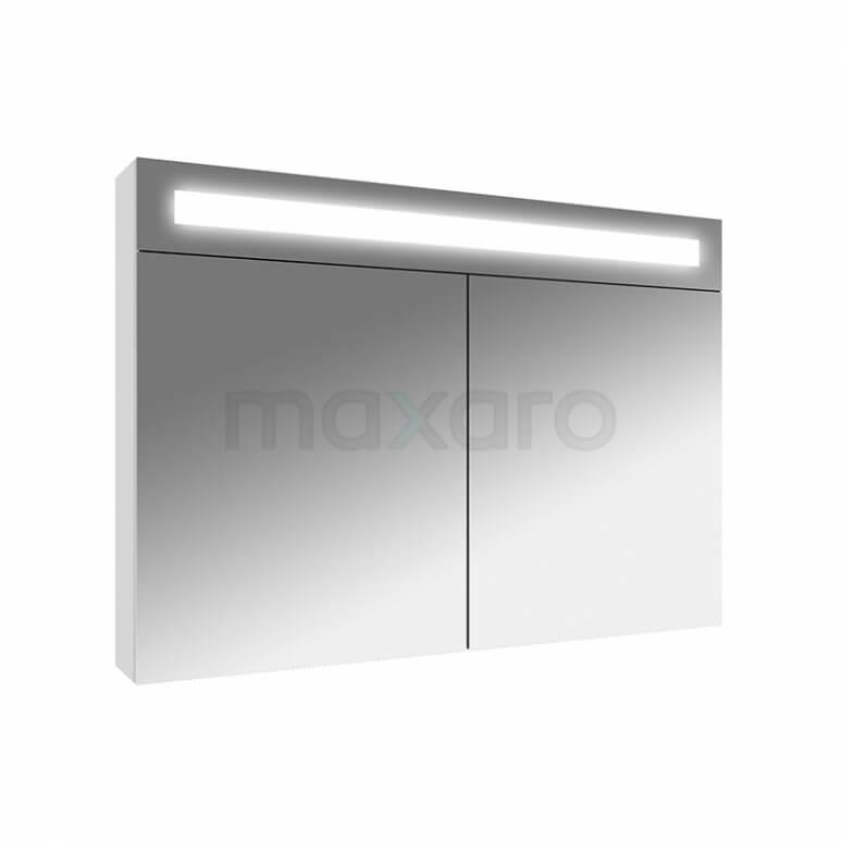 Maxaro K31 K31-0900-40410 Spiegelkast met Verlichting 90x65cm Hoogglans Wit